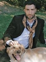 Adam Levine and Golden Retriever Frankie