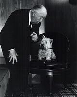 Alfred Hitchcock and Sealyham terrier Sarah
